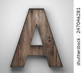 Vintage Wooden Letter A With...