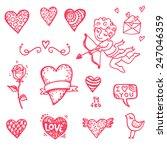 hand drawn valentine's day...   Shutterstock .eps vector #247046359