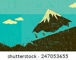 moving mountains businesswomen... | Shutterstock .eps vector #247053655