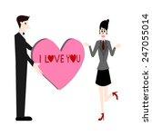 i love you vector | Shutterstock .eps vector #247055014