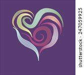 heart with vogue colors | Shutterstock . vector #247059925