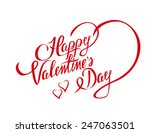 happy valentines day design... | Shutterstock .eps vector #247063501