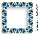 square ceramic vector frame...