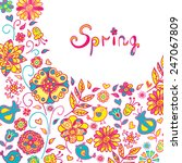 figure spring flowers  colorful ...   Shutterstock .eps vector #247067809
