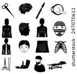 surgery icons set | Shutterstock .eps vector #247070611
