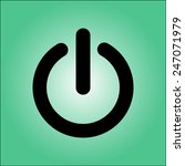 power sign icon. flat design...