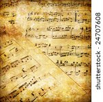 vintage musical pages - stock photo