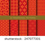 10 different traditional... | Shutterstock .eps vector #247077331