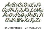 alphabet   3d letters from gold ... | Shutterstock . vector #247081909