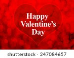 happy valentines day word and...   Shutterstock . vector #247084657