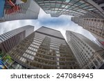 skyward view of office... | Shutterstock . vector #247084945