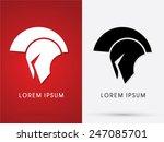 roman or greek  helmet  ... | Shutterstock .eps vector #247085701