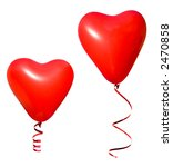 valentine heart balloons | Shutterstock . vector #2470858