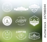 set of vector retro badges and... | Shutterstock .eps vector #247088344