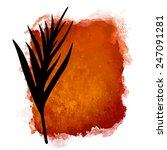 vector watercolor coffee... | Shutterstock .eps vector #247091281