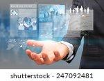 businessman holding virtual... | Shutterstock . vector #247092481