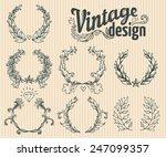 vintage design elements set.... | Shutterstock .eps vector #247099357