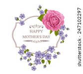 happy mother's day floral... | Shutterstock .eps vector #247102297