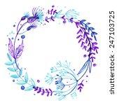 set of flowers  garland.... | Shutterstock . vector #247103725