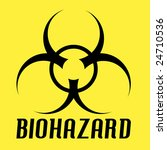 biohazard symbol over a yellow. ... | Shutterstock .eps vector #24710536