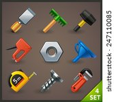tools icon set 4 | Shutterstock .eps vector #247110085