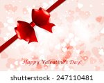 postcard happy valentine's day | Shutterstock .eps vector #247110481