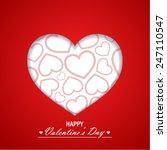 valentine s day background | Shutterstock .eps vector #247110547