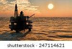 oil rig  platform at sunset | Shutterstock . vector #247114621