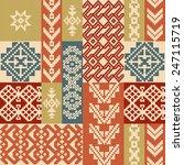 geometric patchwork ornamental... | Shutterstock .eps vector #247115719