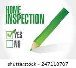 home inspection check list... | Shutterstock .eps vector #247118707