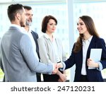 business people shaking hands ... | Shutterstock . vector #247120231