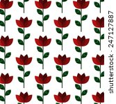 flat style rose vector...