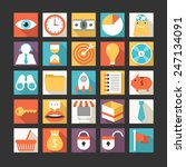set of business icons in flat... | Shutterstock .eps vector #247134091