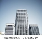 canary wharf skyscrapers in... | Shutterstock . vector #247135219