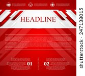 red vector corporate abstract... | Shutterstock .eps vector #247138015
