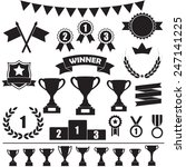 trophy and awards icon set ... | Shutterstock .eps vector #247141225