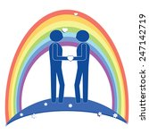 gay couple symbol on white... | Shutterstock .eps vector #247142719