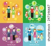 family with children kids... | Shutterstock .eps vector #247146667