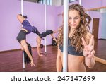 pole dancing and gymnastic... | Shutterstock . vector #247147699