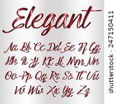 decorative font   metallic red | Shutterstock .eps vector #247150411