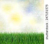 background with green grass... | Shutterstock . vector #247151575