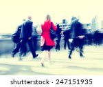 business people rush hour... | Shutterstock . vector #247151935