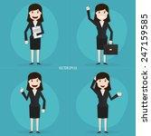 set of businesswomen characters ... | Shutterstock .eps vector #247159585