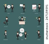 set of businesspeople  man and... | Shutterstock .eps vector #247159591