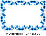 bubbles frame with blue and... | Shutterstock . vector #24716539