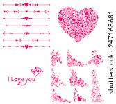 i love you  valentine's day.... | Shutterstock .eps vector #247168681