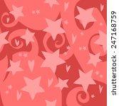 vector cartoon flat red stars...