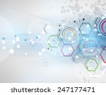 colorful abstract geometric... | Shutterstock .eps vector #247177471