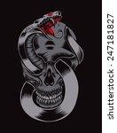 illustration of skull with... | Shutterstock .eps vector #247181827