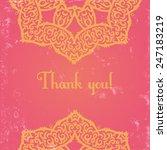template of elegant greeting... | Shutterstock .eps vector #247183219